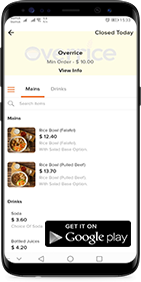 Click here to order Overrice from Hungryy in Google Playstore